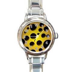 Background Design Random Balls Round Italian Charm Watch