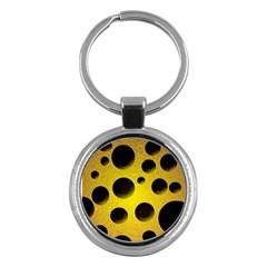 Background Design Random Balls Key Chains (Round)
