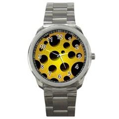 Background Design Random Balls Sport Metal Watch