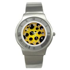 Background Design Random Balls Stainless Steel Watch