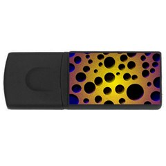Background Design Random Balls Usb Flash Drive Rectangular (4 Gb)
