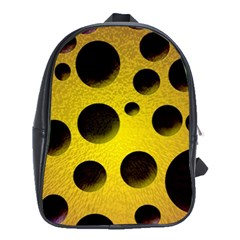 Background Design Random Balls School Bags (XL)