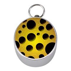 Background Design Random Balls Mini Silver Compasses