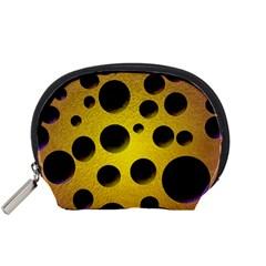 Background Design Random Balls Accessory Pouches (Small)