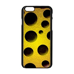 Background Design Random Balls Apple iPhone 6/6S Black Enamel Case