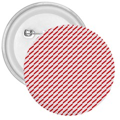Pattern Red White Background 3  Buttons