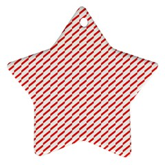 Pattern Red White Background Ornament (Star)