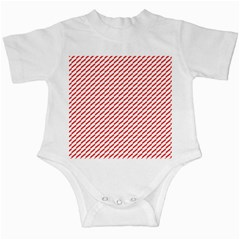 Pattern Red White Background Infant Creepers