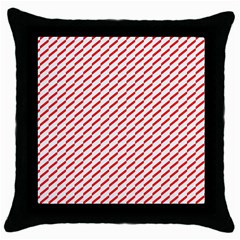 Pattern Red White Background Throw Pillow Case (black)