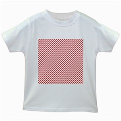 Pattern Red White Background Kids White T Shirts