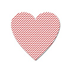Pattern Red White Background Heart Magnet