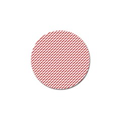 Pattern Red White Background Golf Ball Marker (10 pack)