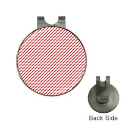 Pattern Red White Background Hat Clips with Golf Markers