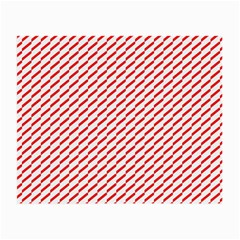 Pattern Red White Background Small Glasses Cloth