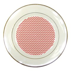 Pattern Red White Background Porcelain Plates