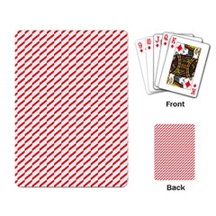 Pattern Red White Background Playing Card