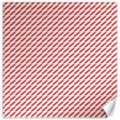 Pattern Red White Background Canvas 20  x 20