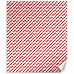 Pattern Red White Background Canvas 20  X 24