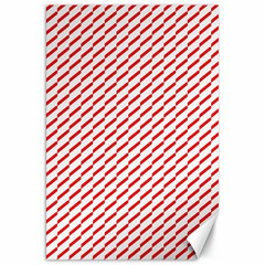 Pattern Red White Background Canvas 20  x 30