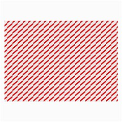 Pattern Red White Background Large Glasses Cloth