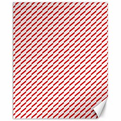 Pattern Red White Background Canvas 11  x 14