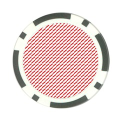 Pattern Red White Background Poker Chip Card Guard (10 pack)
