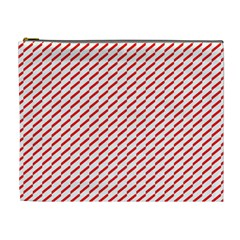 Pattern Red White Background Cosmetic Bag (xl)