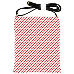 Pattern Red White Background Shoulder Sling Bags