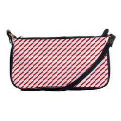 Pattern Red White Background Shoulder Clutch Bags