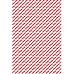 Pattern Red White Background 5.5  x 8.5  Notebooks