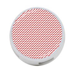 Pattern Red White Background 4-Port USB Hub (Two Sides)