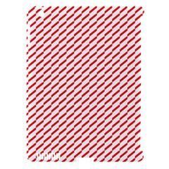 Pattern Red White Background Apple iPad 3/4 Hardshell Case (Compatible with Smart Cover)