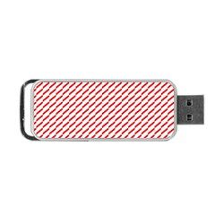 Pattern Red White Background Portable Usb Flash (two Sides)