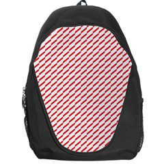 Pattern Red White Background Backpack Bag