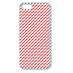 Pattern Red White Background Apple Seamless iPhone 5 Case (Color)