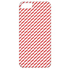 Pattern Red White Background Apple iPhone 5 Classic Hardshell Case