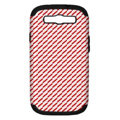 Pattern Red White Background Samsung Galaxy S III Hardshell Case (PC+Silicone)