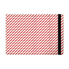 Pattern Red White Background Apple iPad Mini Flip Case