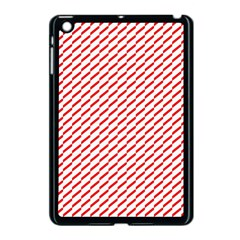 Pattern Red White Background Apple iPad Mini Case (Black)