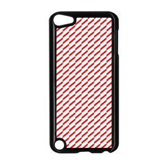 Pattern Red White Background Apple iPod Touch 5 Case (Black)