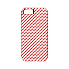 Pattern Red White Background Apple Iphone 5 Classic Hardshell Case (pc+silicone)