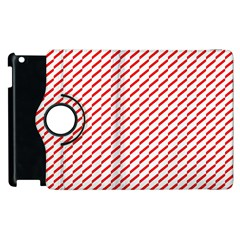 Pattern Red White Background Apple iPad 2 Flip 360 Case