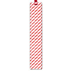 Pattern Red White Background Large Book Marks