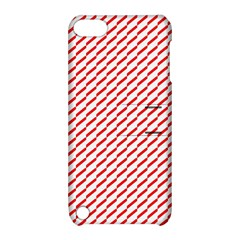 Pattern Red White Background Apple Ipod Touch 5 Hardshell Case With Stand