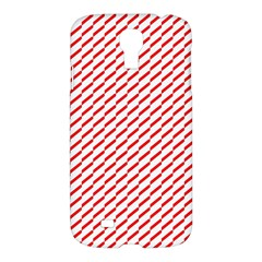 Pattern Red White Background Samsung Galaxy S4 I9500/I9505 Hardshell Case