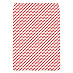 Pattern Red White Background Flap Covers (L)