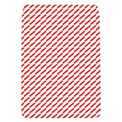 Pattern Red White Background Flap Covers (S)