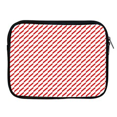 Pattern Red White Background Apple iPad 2/3/4 Zipper Cases
