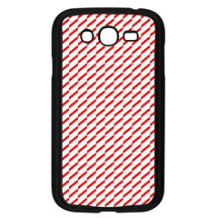Pattern Red White Background Samsung Galaxy Grand DUOS I9082 Case (Black)