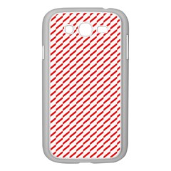 Pattern Red White Background Samsung Galaxy Grand DUOS I9082 Case (White)
